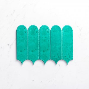 Handmade Feather 85X300 Glossy Turquoise