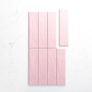 Ceramics Mould Tile 75X300 Gloss Pink
