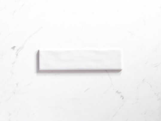Ceramics Mould Tile 75X300 Gloss White Sample