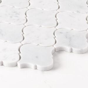 Natural Marble Mosaic Baroque 75X75 Carrara Honed