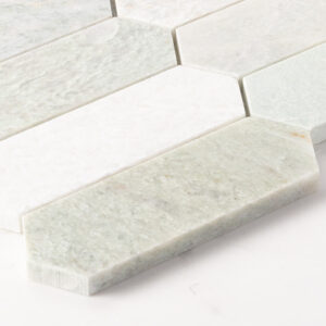 Natural Marble Mosaic Longhexagon 48X145 Minggreen Honed