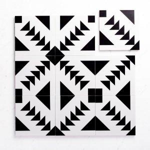 Pattern Tile Moden Black & White 21087 200X200 Matt
