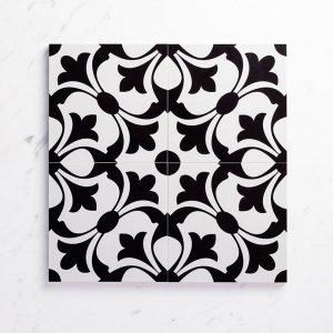 Pattern Tile Modern Black & White 2443 200X200 Matt