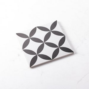 Pattern Tile Modern Black & White 2444 200X200 Matt
