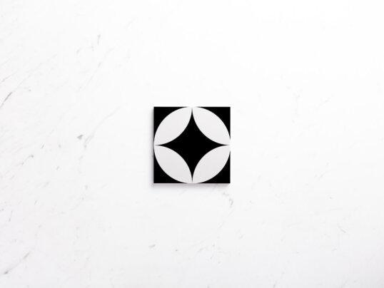 Pattern Tile Moden Black & White 2844 200X200 Matt