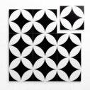 Pattern Tile Modern Black & White 2844 200X200 Matt