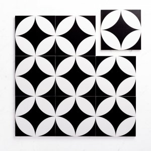 Pattern Tile Modern Black & White 2844 200X200 Matt