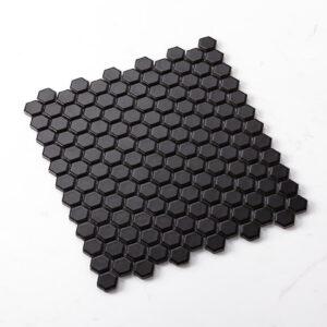 Porcelain Mosaic Hexagon 23X26 Matt Black