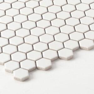 Porcelain Mosaic Hexagon 23X26 Matt White