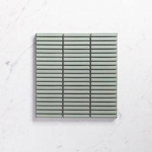 Antique Mint Green Porcelain Mosaic Kit Kat 12X92 Gloss