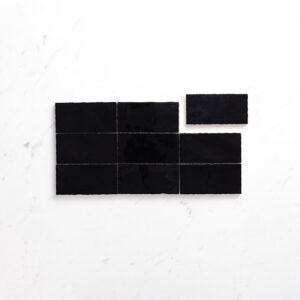 Ceramics Wave Tile 75X150 Gloss Black
