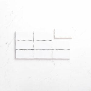 Ceramics Wave Tile 75X150 Gloss White