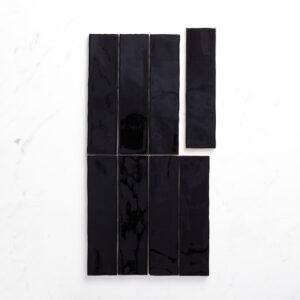 Ceramics Wave Tile 75X300 Gloss Black