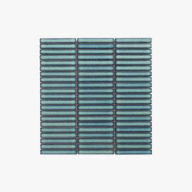Antique Porcelain Mosaic Kit Kat 12×92 Dark Green Gloss