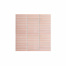 Antique Porcelain Mosaic Kit Kat 12x92 Pink Gloss