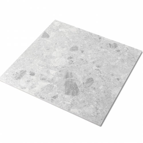 Big Terrazzo 600×600 Matt Light Grey