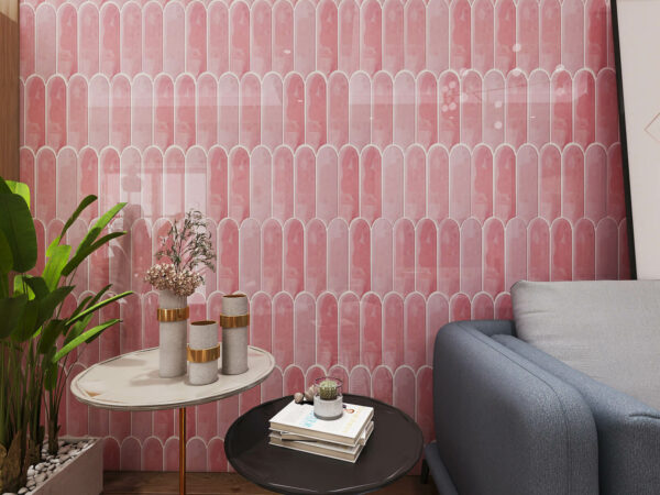 Ceramics Feather 90×300 Gloss Pink 3 in 1