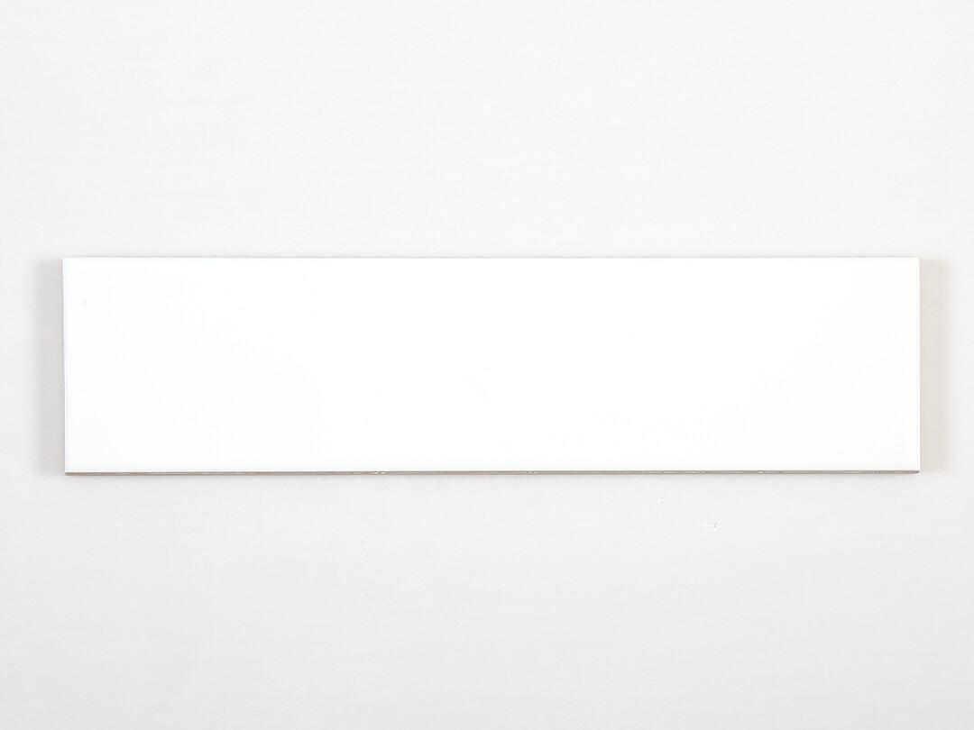 Ceramics Wave Mould Tile 75x300 Gloss White Sample