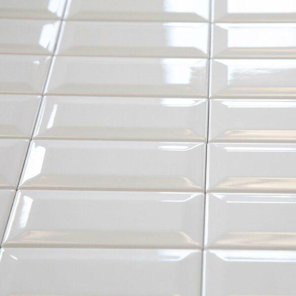 Ceramics Subway Tile 75X150 Gloss White
