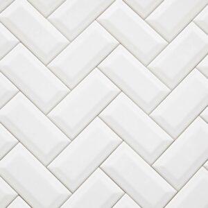 Ceramics Subway Tile 75X150 Matt White