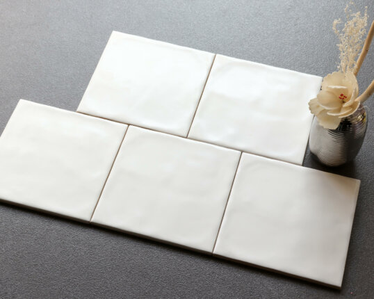 Ceramics Wave Tile 150×150 Matt White