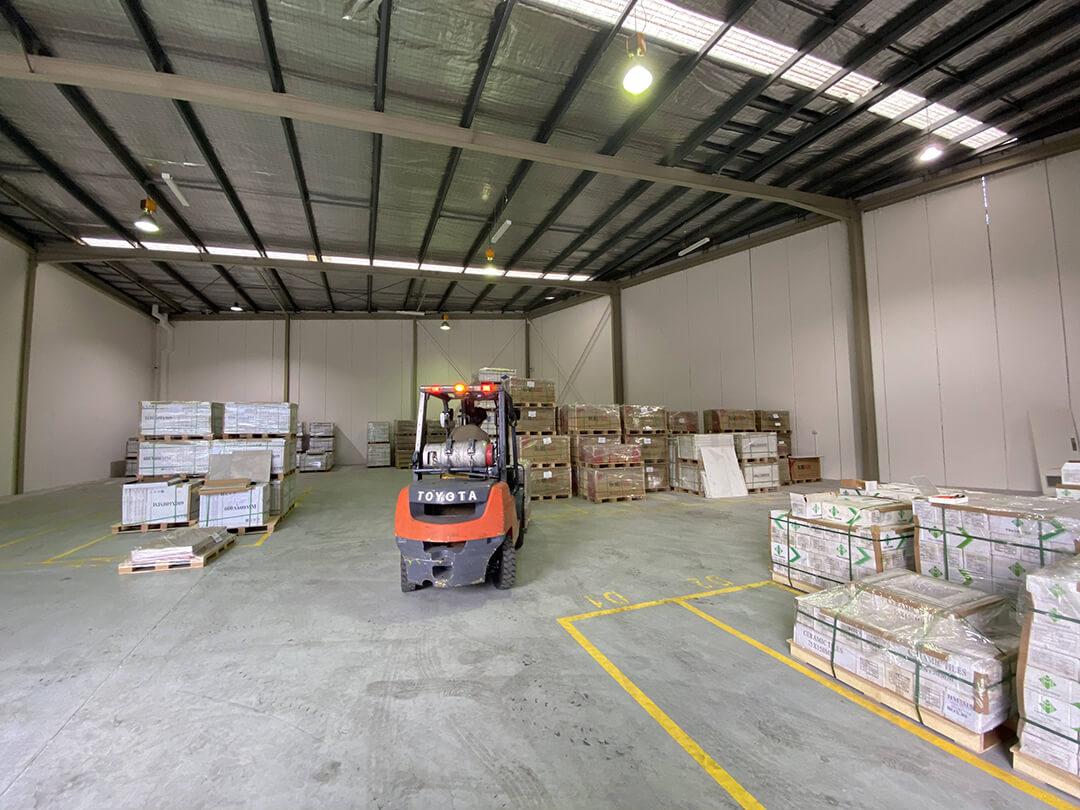 Warehouse Forklift Driving