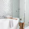 Ceramics Mould Tile 75x300 Gloss Grey