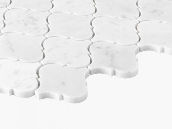 Natural Marble Mosaic Baroque 75×75 Carrara Honed