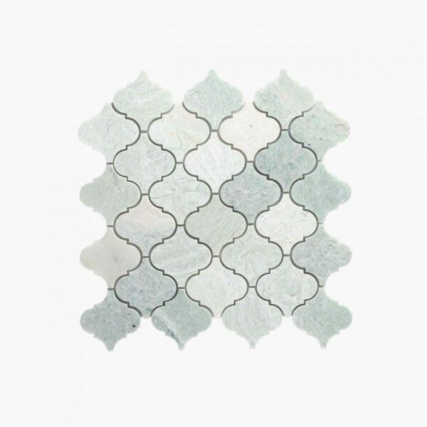 Natural Marble Mosaic Baroque 75×75 Minggreen Honed_depth