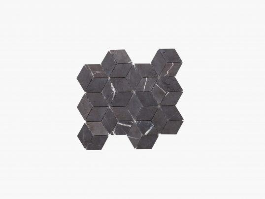 Natural Marble Mosaic Diamond Cube 45×78 Pietra Grey Honed