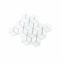 Natural Marble Mosaic Diamond Cube Carrara