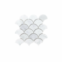 Natural Marble Mosaic FanShape 68×68 Carrara Honed