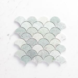 Natural Marble Mosaic Fanshape 75X75 Minggreen Honed