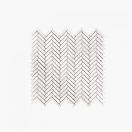 Natural Marble Mosaic Herringbone 10×40 Limestone Tumbled
