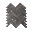 Natural Marble Mosaic Herringbone Pietra Grey