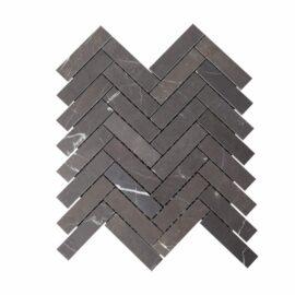 Natural Marble Mosaic Herringbone Pietra Grey