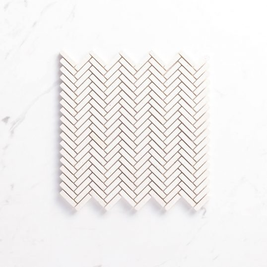 Natural Marble Mosaic Herringbone10x40LSTUBE_TopView