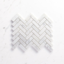 Natural Marble Mosaic Herringbone25x75CAHWH_Top View