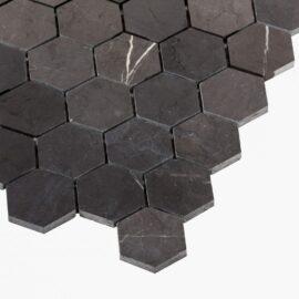 Natural Marble Mosaic Hexagon 48×55 Pietra Grey Honed