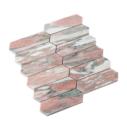 Natural Marble Mosaic LongHexagon 48x145 Blush Honed