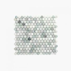 Natural Marble Mosaic Penny Round 20×20 Minggreen Honed