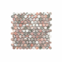 Natural Marble Mosaic PennyRound 23x23 Blush Honed