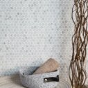 Natural Marble Mosaic Pennyround 20X20 Carrara Honed