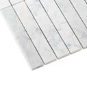 Natural Marble Mosaic Straight 25×150 Carrara Honed_edge