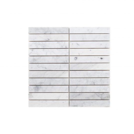 Natural Marble Mosaic Straight 25×150 Carrara Honed