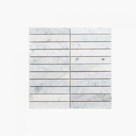 Natural Marble Mosaic Straight 25×150 Carrara Honed_top_