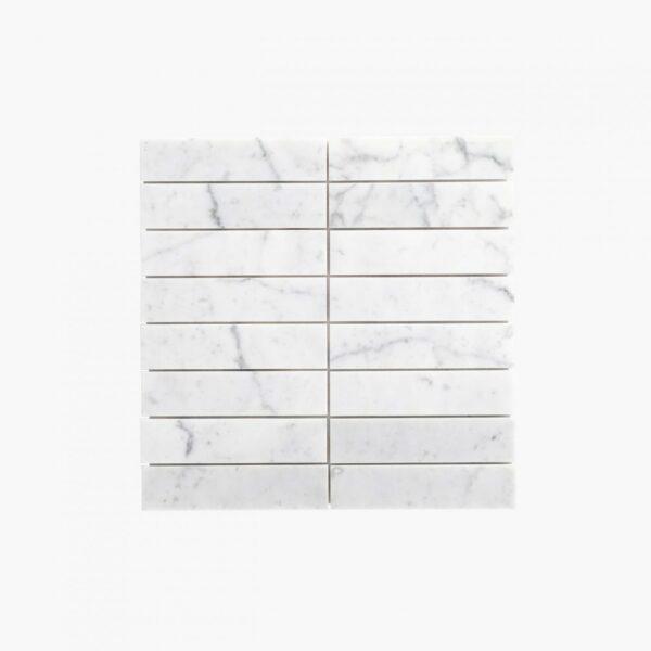 Natural Marble Mosaic Straight 36×150 Carrara Honed