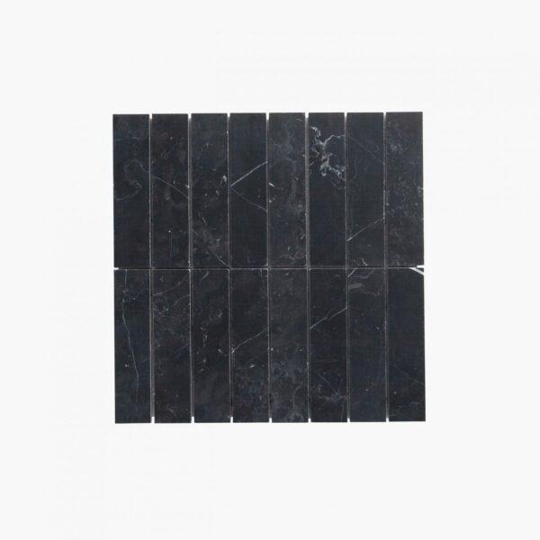 Natural Marble Mosaic Straight 36×150 Neromarquina Honed