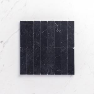 Natural Marble Mosaic Straight 36X150 Neromarquina Honed