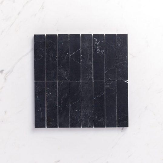 Natural Marble Mosaic Straight36x150NMHBK_Top View